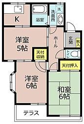 埼玉県三郷市彦成2丁目の賃貸アパートの間取り