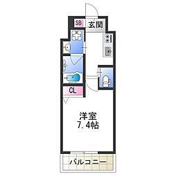 FDS PLACZ SHIN-OSAKA 11階1Kの間取り