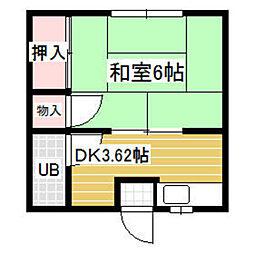 メグハウス飯倉[102号室]の間取り