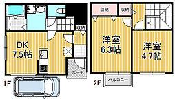 [一戸建] 大阪府東大阪市小若江1丁目 の賃貸【/】の間取り