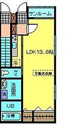 LOTUS安江B[B105号室]の間取り