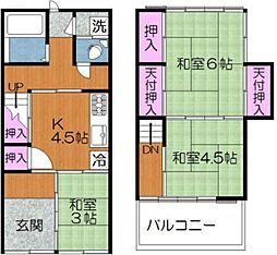 東尾久6丁目テラスハウス 1階3Kの間取り