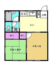 コーポ岩崎II[101号室]の間取り