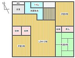 ライオンズマンション久留米プラザ[8階]の間取り