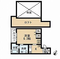 レガシィ井尻[2階]の間取り