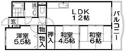 香里園セントポリア[3階]の間取り