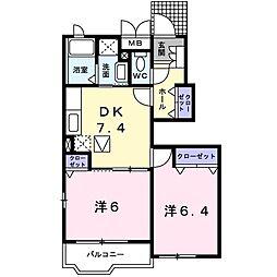 ブリーゼ鎌倉[1階]の間取り