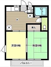神奈川県横浜市旭区柏町の賃貸アパートの間取り