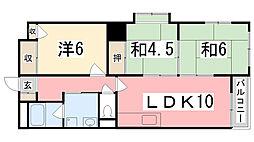カサディフォーレ[6階]の間取り