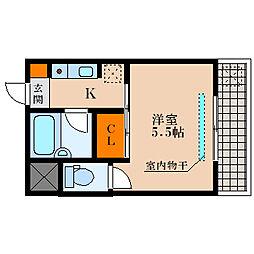 滋賀県東近江市猪子町の賃貸マンションの間取り