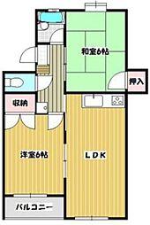 ファミルカワシマII[1階]の間取り