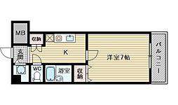 コート淡路[6階]の間取り