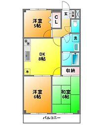 ビアーレ東小金井[3階]の間取り
