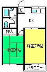 埼玉県さいたま市見沼区大字南中野の賃貸アパートの間取り