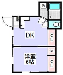 千雅荘[4号室]の間取り