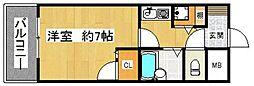 ライオンズマンション平尾第2[404号室]の間取り