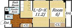 アパルトタツミ[4階]の間取り