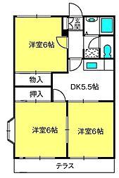 三橋グランハイム富士[A201号室]の間取り