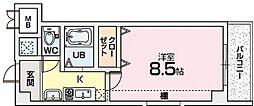 Mプラザ津田駅前十番館[4階]の間取り