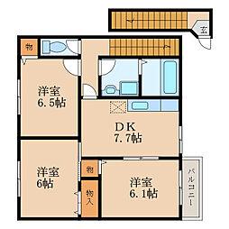 滋賀県大津市坂本5丁目の賃貸アパートの間取り