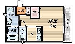 ラフィール香ヶ丘[3階]の間取り