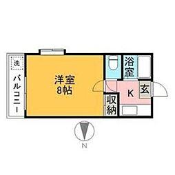 第2岩田ビル[101号室]の間取り
