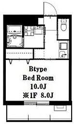 ノブレス横濱蒔田[403号室]の間取り