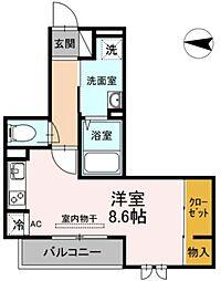 JR横須賀線 新川崎駅 徒歩16分の賃貸アパート 3階ワンルームの間取り