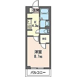 仮)市原市五井東マンション 1階1Kの間取り