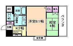 KHKコート西野田[10階]の間取り