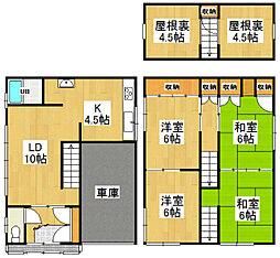 [一戸建] 北海道小樽市松ケ枝2丁目 の賃貸【/】の間取り