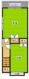 [タウンハウス] 福岡県福岡市中央区白金1丁目 の賃貸【福岡県 / 福岡市中央区】の間取り