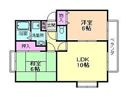 コンフォーレ上野西A棟[1階]の間取り