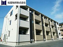 愛知県豊橋市北島町字高田の賃貸アパートの外観