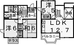 [テラスハウス] 東京都稲城市百村 の賃貸【東京都 / 稲城市】の間取り