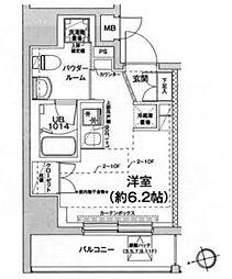 エルフォルテ五反田 5階ワンルームの間取り
