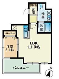 ビエネスタ千代県庁口[11階]の間取り