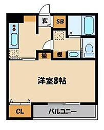 東武東上線 東松山駅 徒歩15分の賃貸アパート 1階1Kの間取り