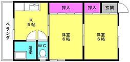 水野荘[2F5号室]の間取り