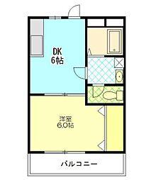 センティア伊藤[1階]の間取り