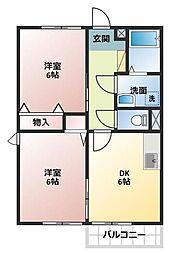 エスポワールメゾンA[1階]の間取り