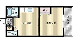 きむらマンション[4階]の間取り