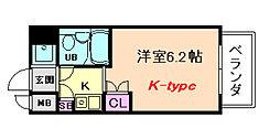 デ・リード塚本駅前[3階]の間取り