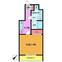 フォセット南行徳[5階]の間取り