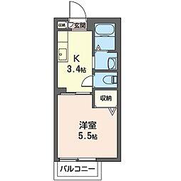 Laputa A[2階]の間取り