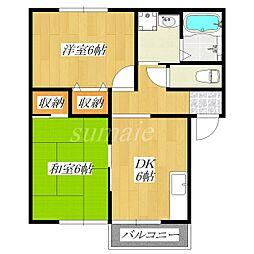 東京都北区浮間4丁目の賃貸マンションの間取り