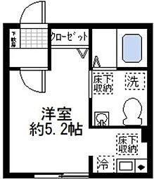 三ッ沢ルーエンハイム[2階]の間取り