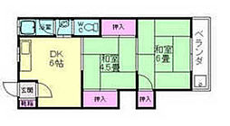 柳原マンション第2[2階]の間取り