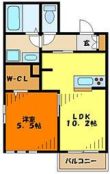 JR南武線 武蔵新城駅 徒歩5分の賃貸マンション 1階1LDKの間取り