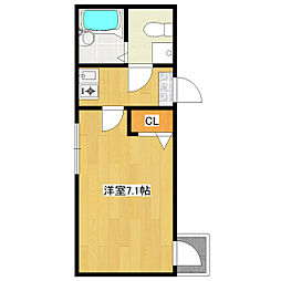 JR総武線 小岩駅 徒歩6分の賃貸アパート 2階1Kの間取り